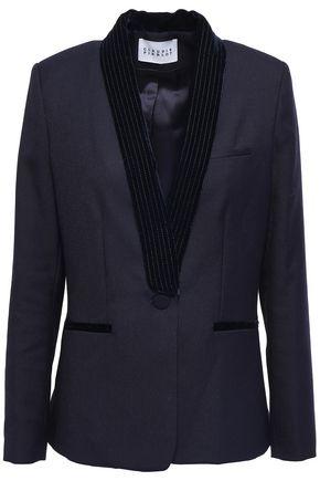CLAUDIE PIERLOT Volupte velvet-trimmed twill blazer