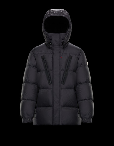 OBERT Black Down Jackets Man