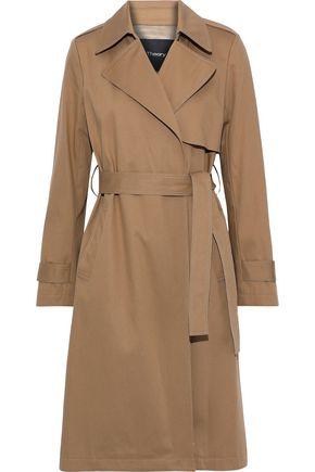 THEORY Oaklane cotton-blend gabardine trench coat
