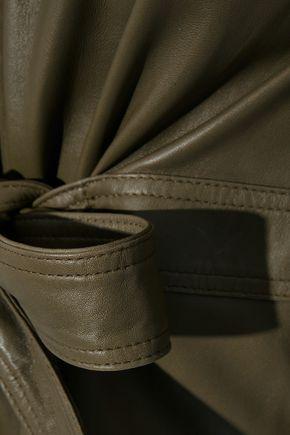 MUUBAA Harriet tie-front leather top