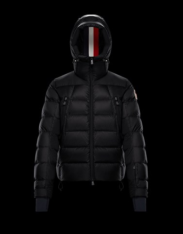 CAMURAC Black Down Jackets Man