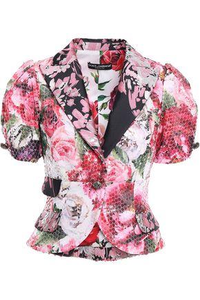 DOLCE & GABBANA Sequined floral-jacquard blazer