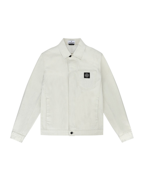 Jacket 40910 CANVAS PLACCATO STONE ISLAND JUNIOR - 0