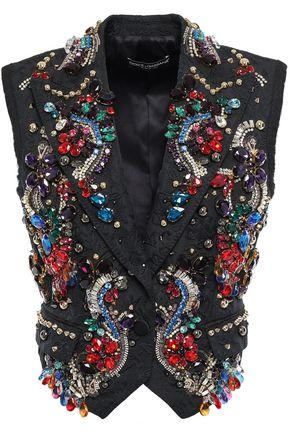 DOLCE & GABBANA Embellished jacquard vest
