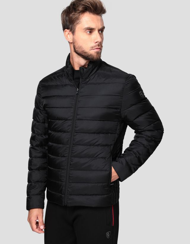 Scuderia Ferrari Online Store - 2 in 1 men's parka in T2 TECH-TWILL with REAL DOWN inner - Parkas