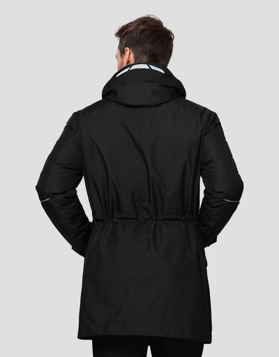 2 in 1 men's parka in T2 Tech-Twill with Real Down inner