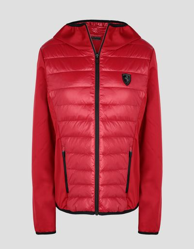 Scuderia Ferrari Online Store - Women's jacket in Softshell with real down filling - Down Jackets