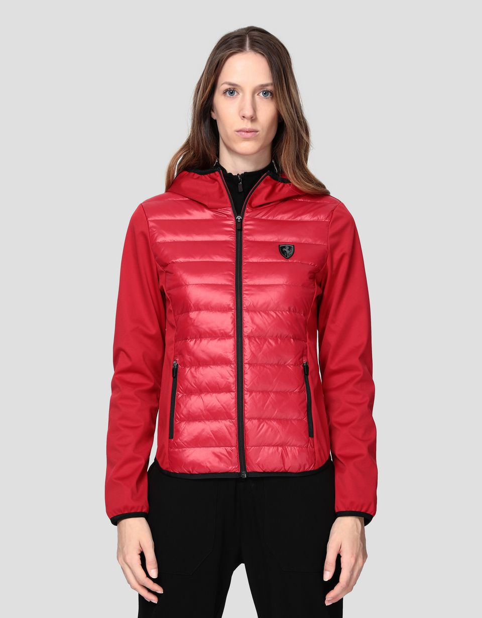 Scuderia Ferrari Online Store - Women's Softshell jacket with Real Down padding - Down Jackets