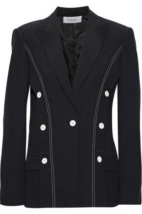 DEREK LAM 10 CROSBY Button-detailed washed-crepe blazer