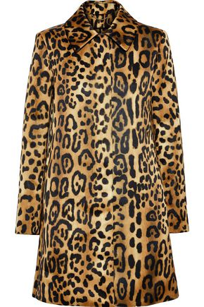 ADAM LIPPES Leopard-print duchesse-satin coat