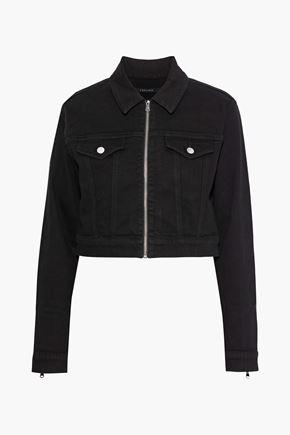 J BRAND Moto cropped denim jacket