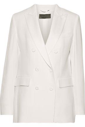 MAX MARA Double-breasted washed-crepe blazer