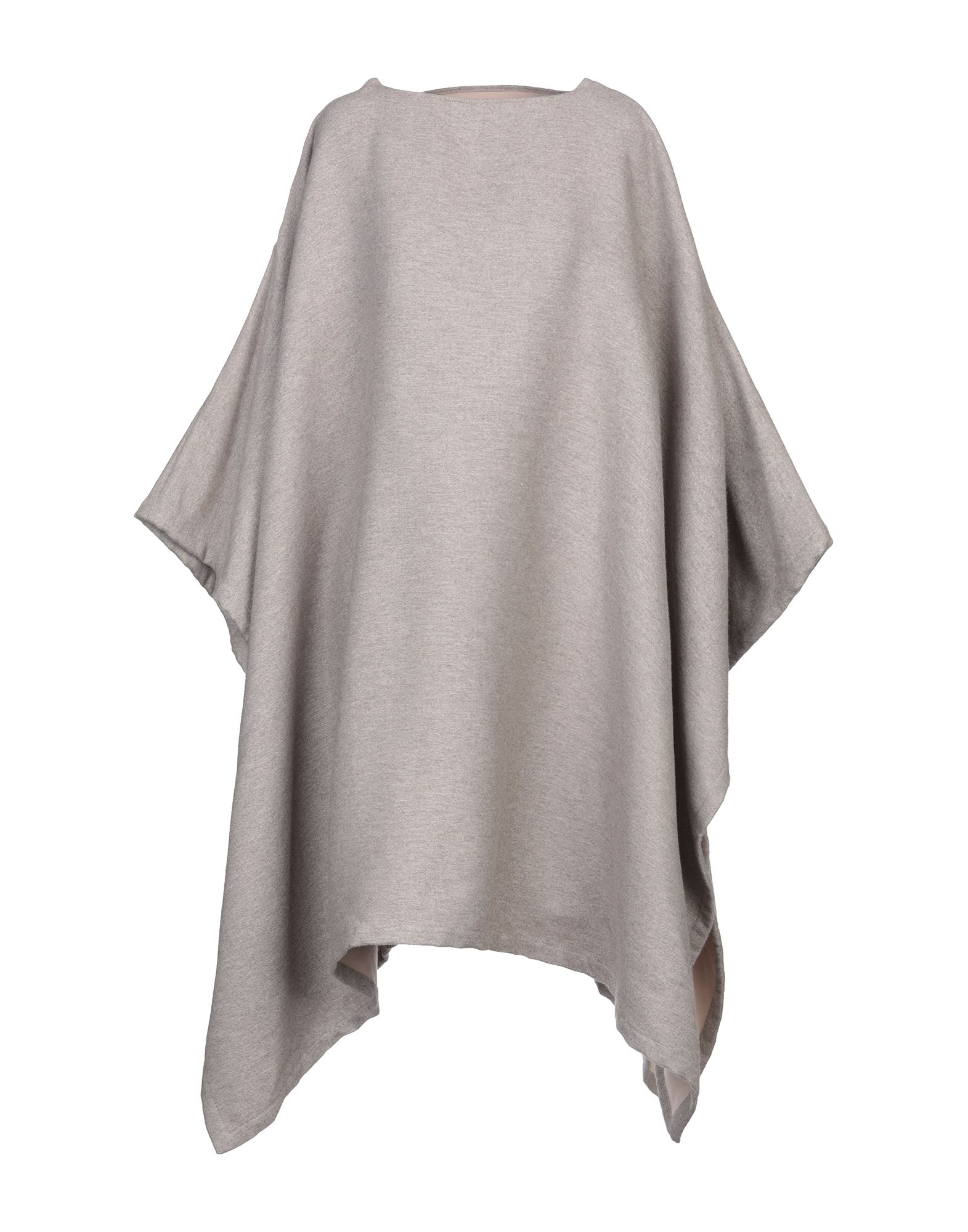 GIORGIO ARMANI Capes & ponchos. flannel, no appliqués, basic solid color, single-breasted, zip, wide neckline, no pockets, sleeveless, unlined. 91% Wool, 9% Silk
