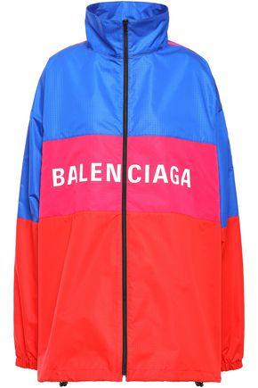 BALENCIAGA Oversized printed color-block shell jacket