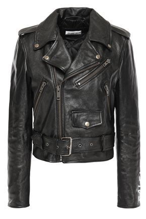 BALENCIAGA Painted leather biker jacket