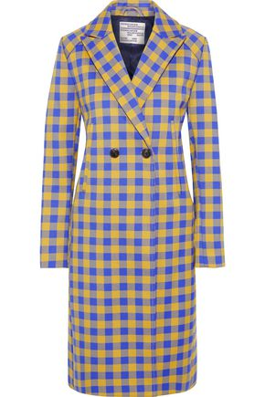 BAUM UND PFERDGARTEN Darcie double-breasted checked twill coat