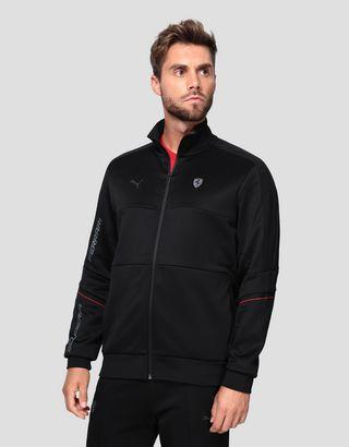 Scuderia Ferrari Online Store - Puma Scuderia Ferrari T7 Men's Jacket - Zip Jumpers
