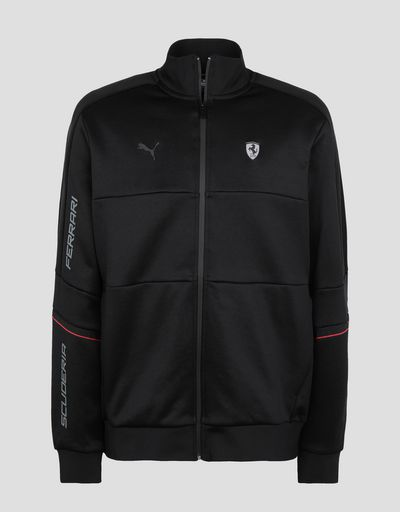 Scuderia Ferrari Online Store - Puma Scuderia Ferrari T7 men's jacket - Zip Hood Sweaters