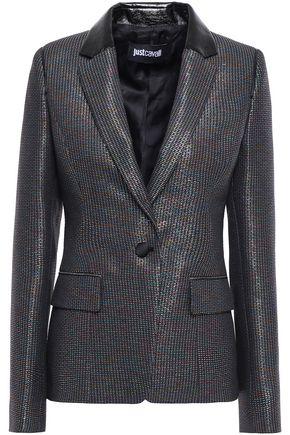 JUST CAVALLI Metallic jacquard blazer