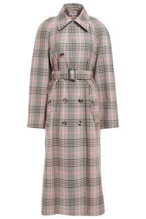 BAUM UND PFERDGARTEN Dannell Prince of Wales checked jacquard trench coat
