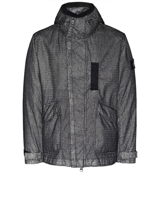 STONE ISLAND 43999 REFLECTIVE WEAVE RIPSTOP-TC WITH PANNO JACQUARD_DETACHABLE LINING Jacket Man Black