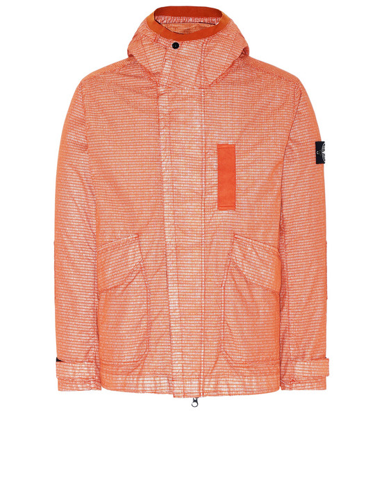 STONE ISLAND 43999 REFLECTIVE WEAVE RIPSTOP-TC WITH PANNO JACQUARD_DETACHABLE LINING Jacket Man Orange