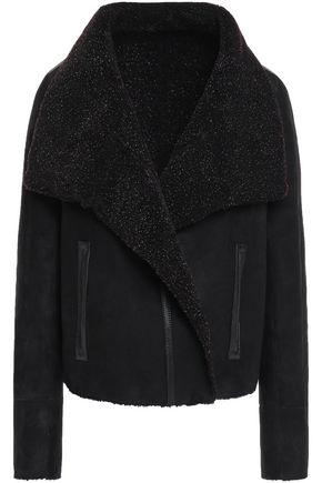 YVES SALOMON Reversible shearling-paneled leather coat