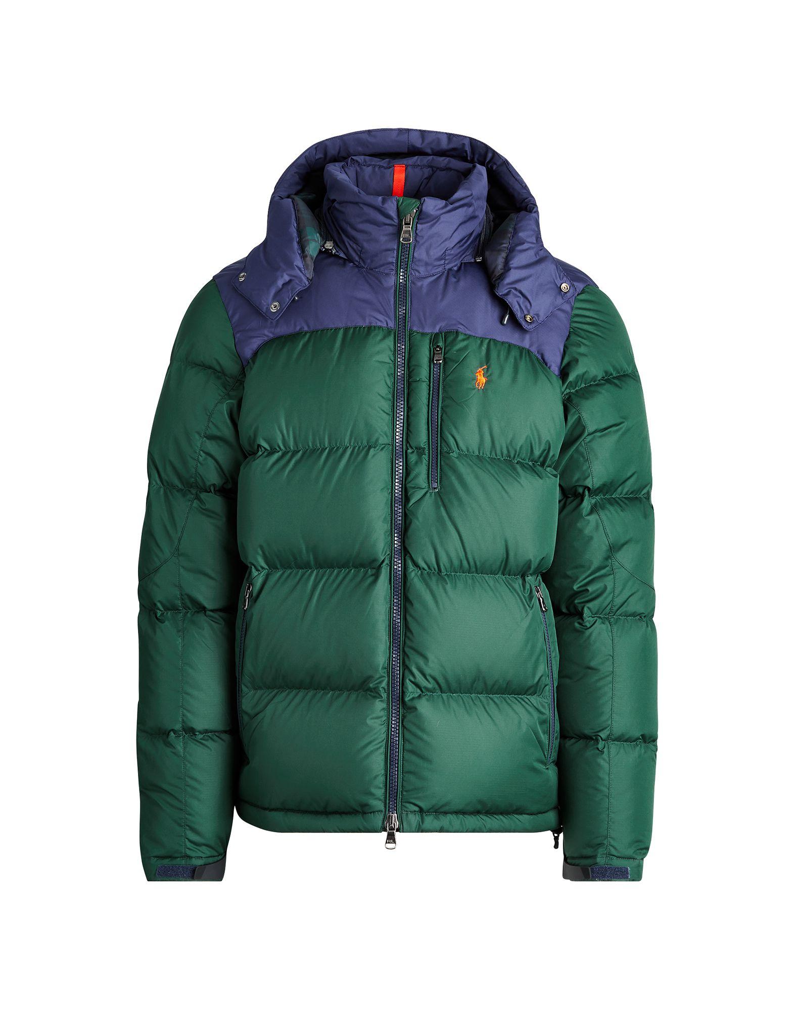 《セール開催中》POLO RALPH LAUREN メンズ ダウンジャケット グリーン M ポリエステル 100% Water-Repellent Down Jacket