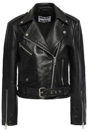 WALTER BAKER Leather biker jacket