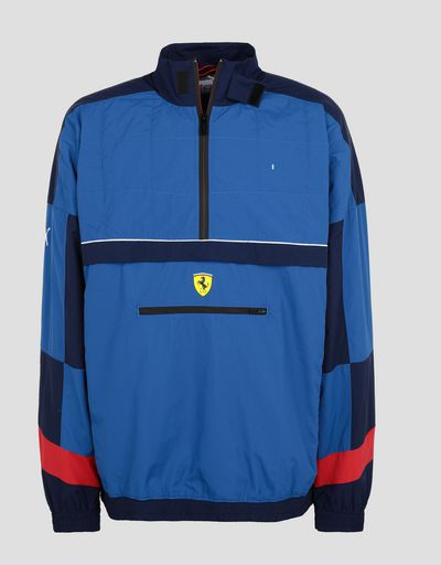 Scuderia Ferrari Online Store - Puma Scuderia Ferrari Men's Jacket in a perforated fabric - Bombers & Track Jackets