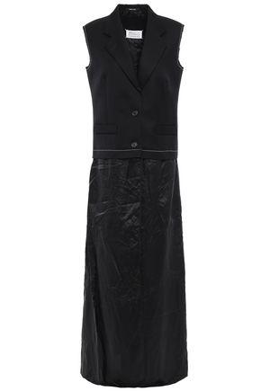 MAISON MARGIELA Paneled wool and satin-twill vest