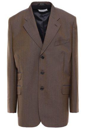 MAISON MARGIELA Oversized iridescent-effect wool and mohair-blend blazer