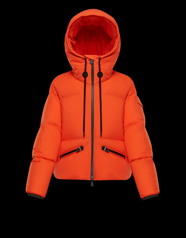 AIRY Orange Short Down Jackets