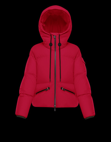 AIRY Fuchsia Short Down Jackets Woman