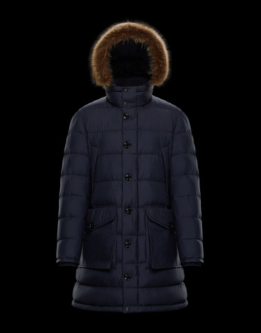 AYMON Dark blue Category Parka