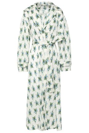 EMILIA WICKSTEAD Wilmer belted floral-print shell hooded jacket