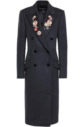 DOLCE & GABBANA ダブルブレスト 装飾付き ウール&カシミヤ混 コート
