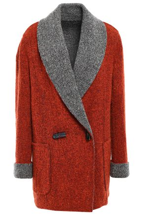 MISSONI Reversible double-breasted wool-blend bouclé-knit jacket