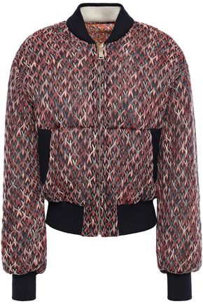 MISSONI Reversible crochet-knit bomber jacket