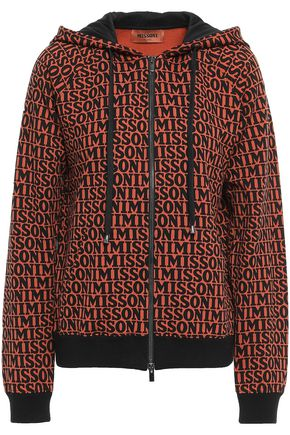 MISSONI Printed French cotton-blend terry hoodie