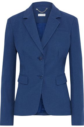 ALTUZARRA Salerno grosgrain-trimmed slub cotton-blend blazer