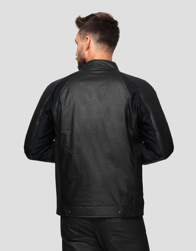 Herren-Bikerjacke aus HYBRID LEATHER
