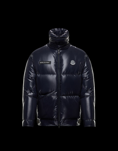 VIGGEN Blue Down Jackets Man