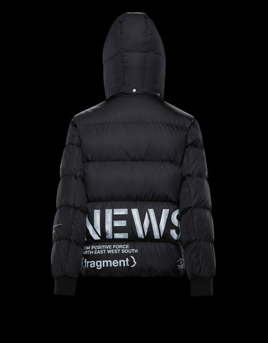 FALCON Black Down Jackets Man