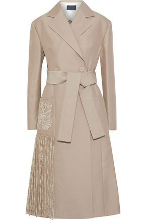 PROENZA SCHOULER Chenille fringed twill coat