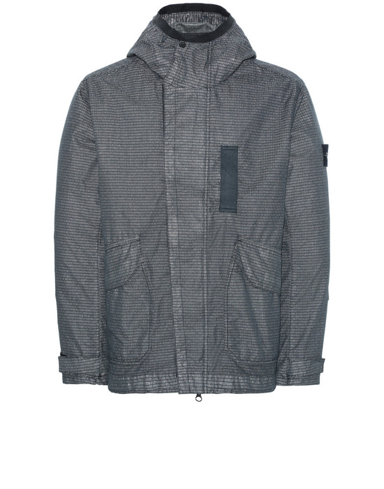 STONE ISLAND 43999 REFLECTIVE WEAVE RIPSTOP-TC WITH PANNO JACQUARD_DETACHABLE LINING Jacket Man Dark Grey