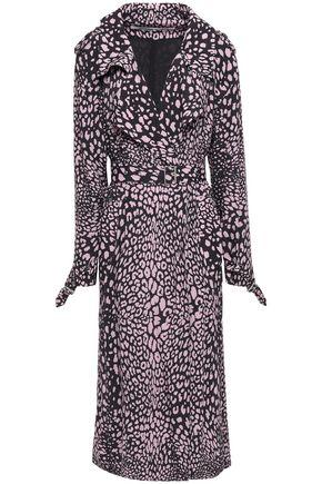 McQ Alexander McQueen Leopard-print crepe trench coat