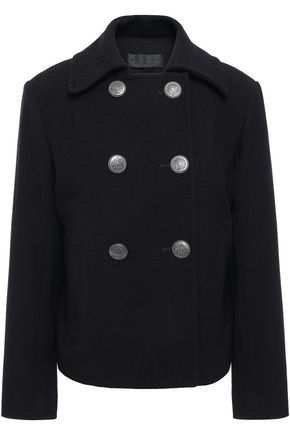 NILI LOTAN Franklin double-breasted brushed wool-twill coat