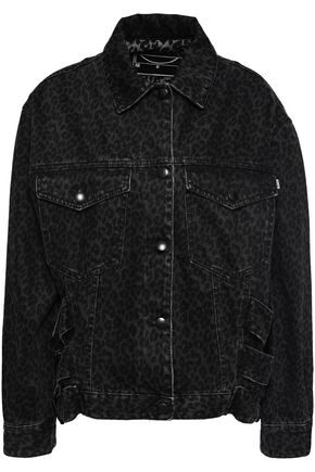 McQ Alexander McQueen Leopard-print denim jacket