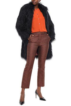 Etro Woman Faux Fur Coat Black